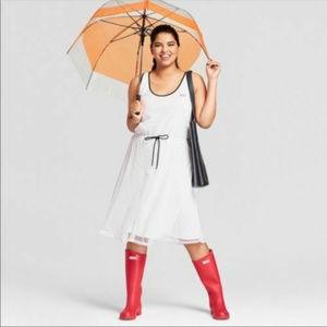 HUNTER || Mesh A Line White Dress